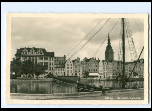 V1740/ Elbing Hermann-Balk-Ufer Foto AK Ostpreußen ca.1938