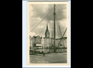 V1716/ Elbing Hermann-Balk-Ufer Foto AK Ostpreußen ca.1938