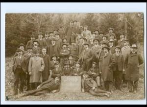 """Y19905/ Gröbersdorf """"Hoch der 1.Mai"""" 1908 Foto AK Schlesien ?"""
