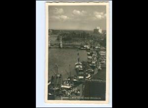V1714/ Stettin Hafen Foto AK 1940 Pommern