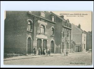 V1713/ Quesnoy-sur-Deule Rue de la Gare - La Poste AK Frankreich -598-