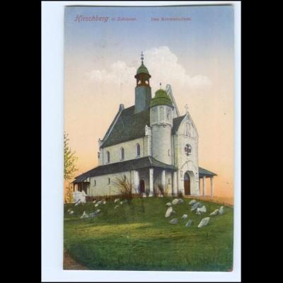 Y19130/ Hirschberg Schlesien Das Krematorium AK ca.1912n