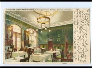 V1726/ Hamburg Schümann`s Austern-Keller Litho AK ca.1900