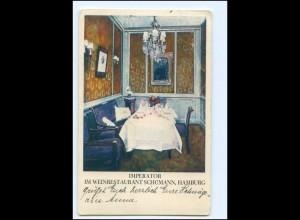 V1730/ Hamburg Weinrestaurant Schümann Imperator AK 1928