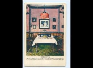 V1732/ Hamburg Weinrestaurant Schümann Hubertus AK ca.1925