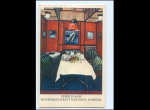 V1733/ Hamburg Weinrestaurant Schümann Zeppelin-Koje AK ca.1925