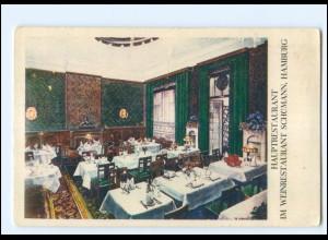 V1734/ Hamburg Weinrestaurant Schümann Hauptrestaurant AK ca.1925