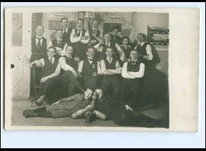 V1718/ Kegeln Privat Foto AK Stempel: Berlin 1917