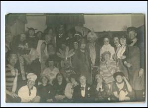 Y19135/ Davos Kostümfest 21. jan. 1925 Privat Foto AK Schweiz