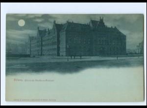 Y19140/ Hamburg Altona Eisenbahn-Direktions-Gebäude Mondschein AK ca.1898