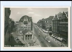 Y19141/ Hamburg Mönckebergstr. Spitalerstr. Straßenbahn Foto AK 1940