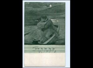 V1707/ Jugend Postkarte von Zumbusch, Lieder Ak An der schönen blauen Donau