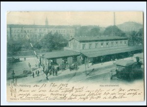 V1706/ Hamburg Klosterthorbahnhof AK 1902