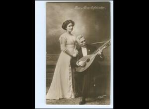 Y19192/ Lisa und Sven Scholander Komponist aus Schweden Foto AK