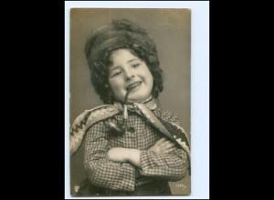 Y19187/ Hübsches Mädchen mit Pfeife Foto AK 1907