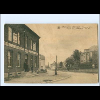 V1741/ Momignies Hotel de Commerce Belgien AK ca. 1915