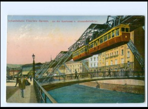 Y19170/ Elberfeld Barmen Schwebebahn Alexanderbrücke AK 1925