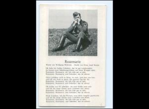 Y19171/ Rosemarie Lieder AK Soldat 2. Weltkrieg ca.1940