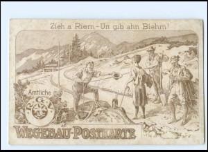 V1719/ Riesengebirge Wegebau-Postkarte R.G.V. ca.1912 Schlesien