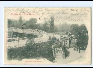 Y19199/ Mannheim Linden-Überführung AK 1900