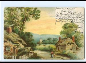 Y19193/ Landschaft Werbung Gebrüder Jürgens Dampf-Kaffee Litho AK 1905