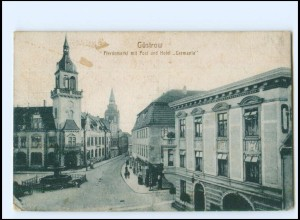 V1810-182/ Güstrow Pferdemarkt , Hotel Germania AK ca.1920