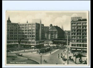 Y19049/ Berlin Alexanderplatz Straßenbahn Foto AK ca.1935