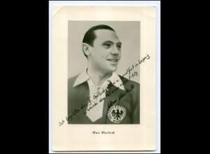 Y19228/ Fußball-Weltmeister Max Morlock II. Dt. Turnfest in Leipzig AK Faksimile
