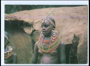 Y19057/ Masai Kenia junge Frau nackt Afrika AK