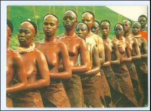 Y19058/ Basotho Women, Lesotho junge Frauen nackt Afrika AK