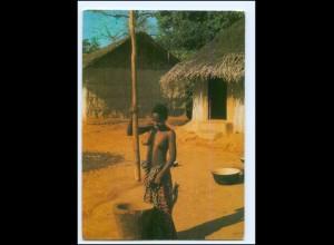 Y19059/ Junge Frau nackt Afrika AK