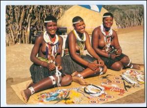 Y19064/ Frauen nackt Süd-Afrika AK
