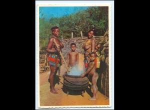 Y19068/ Zulu-Mother Frauen nackt Süd-Afrika AK