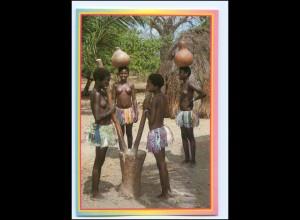 Y19071/ Giriama Girls Frauen nackt Afrika AK