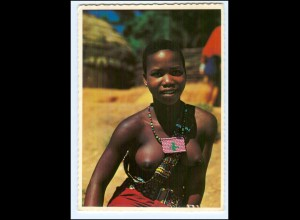 Y19072/ Young Zulu-Girl Frauen nackt Süd-Afrika AK
