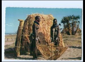 Y19081/ Turkana Woman - Frau nackt Afrika AK