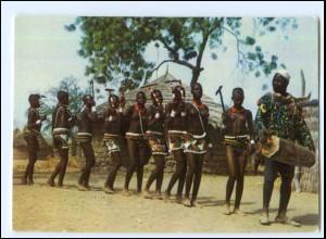 Y19088/ Tschad Frauen nackt Afrika AK