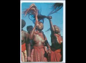 Y19092/ Cwambo Ukuanjama Stammestanz Frauen nackt Afrika AK
