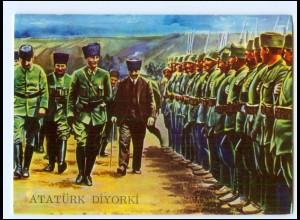 Y19207/ Atatürk Diyorki Türkei Militär AK ca.1975