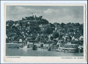 V1702/ Hamburg Blankenese Landungsbrücke AK 1940