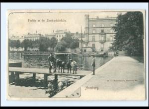 XX13618/ Hamburg Partie an der Lombardsbrücke AK 1902