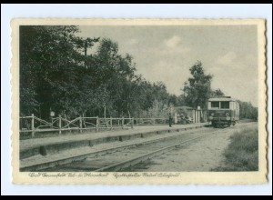 XX14689/ Bad Bramstedt Haltstelle Bahnhof neues Kurhaus AK ca.1935