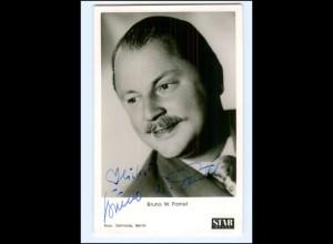XX13661/ Bruno W. Pantel Original Autogramm Star Revue-Karte 60er