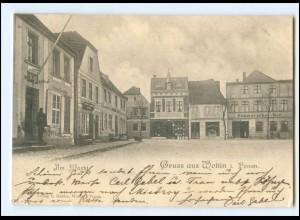 XX14678/ Wollin in Pommern Am Markt AK 1902