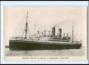 XX13621/ Dampfer S.S. Melita & Minnesdosa Canadian Pacific Foto AK ca.1920