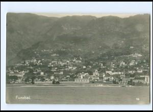 XX13823/ Funchal Madeira Mittelmeerfahrt der S.M.S Kolberg Foto AK Portugal