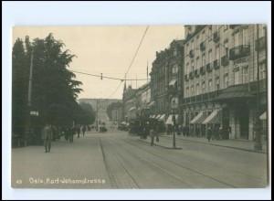 XX13807/ Oslo Karl-Johannstr. Reichsmarine Norwegenfahrt Foto AK ca.1925