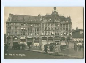XX13806/ Oslo Marktplatz Reichsmarine Norwegenfahrt Foto AK ca.1925