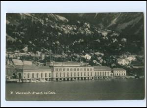 XX13800/ Wasserkraftwerk bei Odde Norwegen Foto AK ca.1925