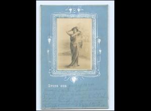 Y19282/ Jugendstil Foto Passepartout AK 1900